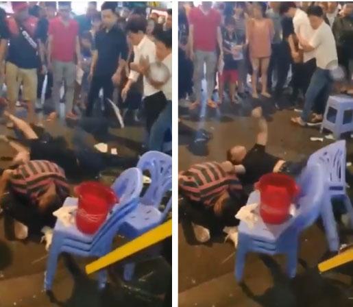 Clip: 3 thanh niên lên cơn co giật, giãy giụa trên phố Bùi Viện khiến nhiều người sợ hãi-2