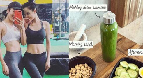 Chuyện giảm cân 70% ăn - 30% tập của sao Việt: Nhã Phương ăn toàn rau xanh, Ngọc Trinh uống nước ép tiêu mỡ
