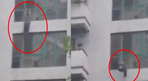 Rùng mình cảnh nam thanh niên rơi từ tầng 6 toà chung cư xuống đất tử vong