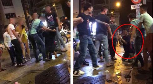 Xôn xao clip ông bán hàng rong bị nhóm thanh niên đánh hội đồng, cầm mũ bảo hiểm đập tới tấp vào đầu