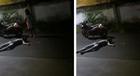 Cãi nhau với bạn gái, nam thanh niên nằm lăn ra đường giả vờ ngất để mong người yêu quay lại