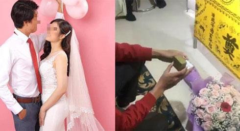 """Đám cưới đặc biệt của chàng trai bay từ Nhật về để trao nhẫn lên bàn thờ vợ: """"Anh muốn làm cho em nhiều hơn thế"""""""