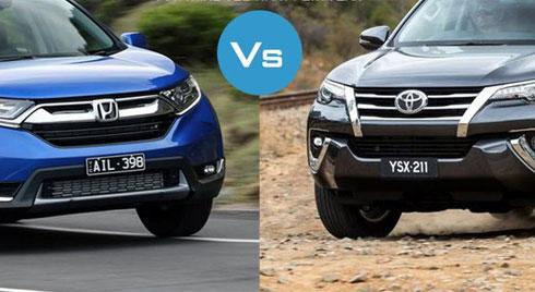 Mua xe gia đình chọn Honda CR-V 2019 hay Toyota Fortuner 2019 ?