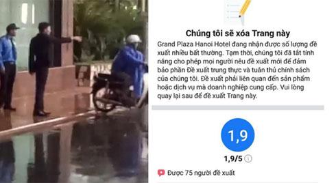 """Khách sạn 5 sao tại Hà Nội có nhân viên đuổi người trú mưa nhận """"bão 1 sao"""" từ cộng đồng mạng"""