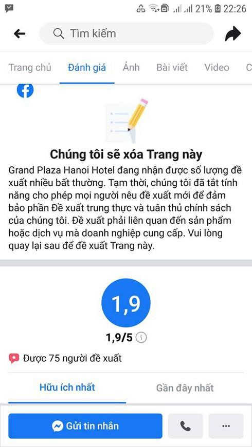 Khách sạn 5 sao tại Hà Nội có nhân viên đuổi người trú mưa nhận bão 1 sao từ cộng đồng mạng-4