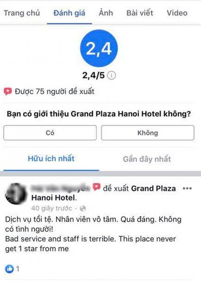 Khách sạn 5 sao tại Hà Nội có nhân viên đuổi người trú mưa nhận bão 1 sao từ cộng đồng mạng-1