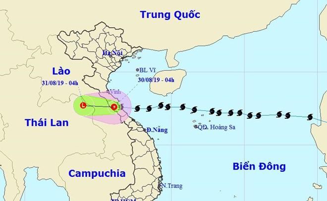 Vào đất liền, bão số 4 đã suy yếu thành áp thấp, Hà Nội và các tỉnh miền Bắc, Bắc Trung Bộ mưa rất lớn-1