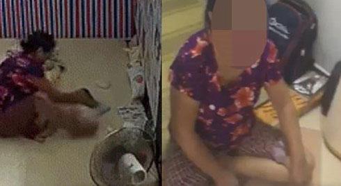 Vừa lắp camera 1 ngày, mẹ trẻ chết ngất khi nhìn giúp việc hết tát rồi quăng con gái vì bé không chịu uống sữa