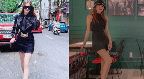 Hà Hồ, Minh Hằng đọ vẻ sành điệu khi cùng diện đồ đen xuống phố