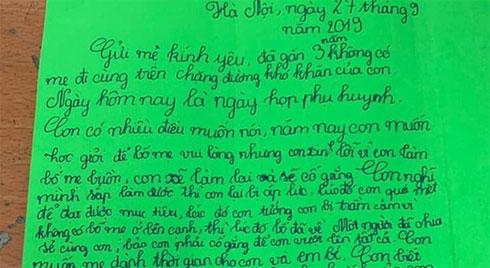 Nghẹn ngào trước bức thư của cậu bé lớp 5 khi bố mẹ li hôn, ai đọc xong cũng giật mình