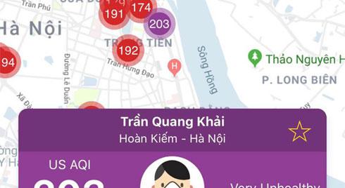 Sau 1 ngày mưa lớn, ô nhiễm ở Hà Nội lại ở mức báo động
