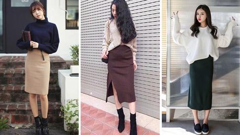 Chân váy len, item dễ phối đồ cho mùa thu đông ấm áp