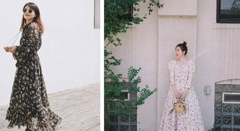 Không kiểu váy nào vượt qua được váy dáng dài về độ sang chảnh, yêu kiều và hợp rơ với tiết trời se lạnh