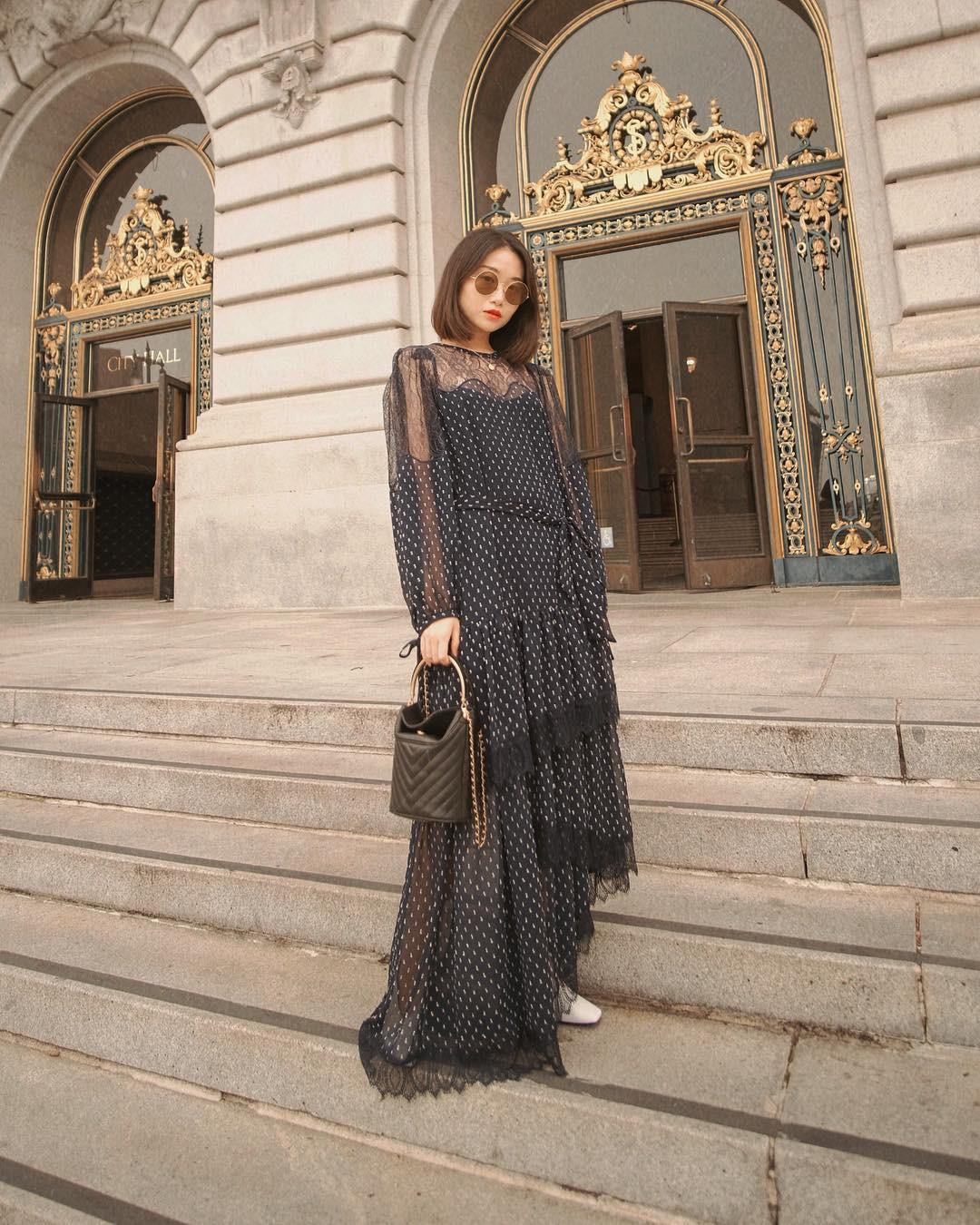 Không kiểu váy nào vượt qua được váy dáng dài về độ sang chảnh, yêu kiều và hợp rơ với tiết trời se lạnh-13