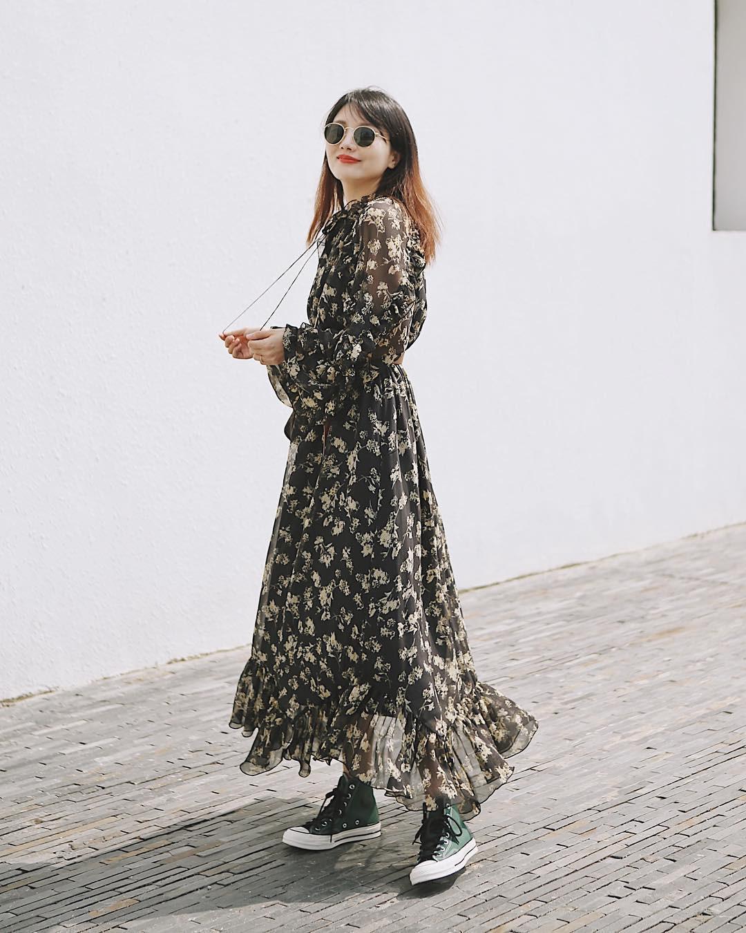Không kiểu váy nào vượt qua được váy dáng dài về độ sang chảnh, yêu kiều và hợp rơ với tiết trời se lạnh-5
