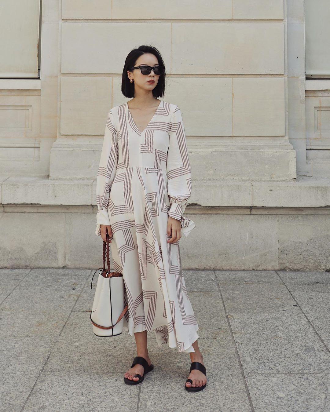Không kiểu váy nào vượt qua được váy dáng dài về độ sang chảnh, yêu kiều và hợp rơ với tiết trời se lạnh-7