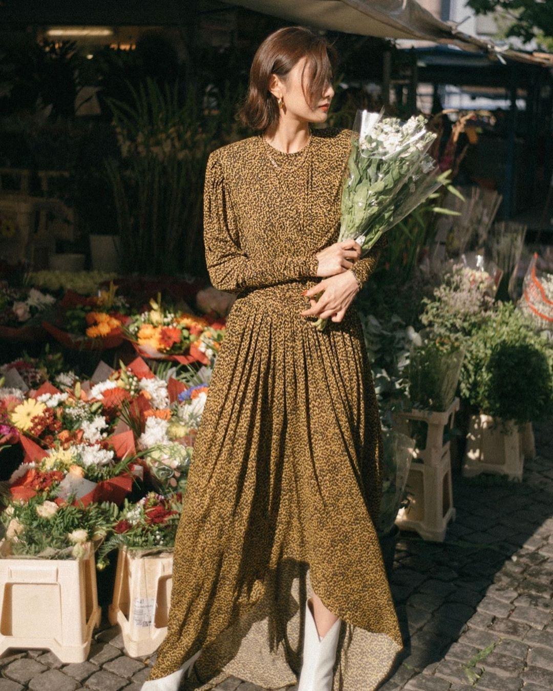 Không kiểu váy nào vượt qua được váy dáng dài về độ sang chảnh, yêu kiều và hợp rơ với tiết trời se lạnh-8