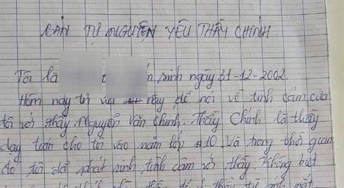 """Làm rõ """"Bản tự nguyện yêu thầy giáo"""" của nữ sinh lớp 12 ở Kiên Giang"""