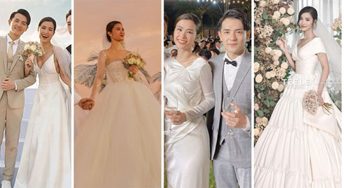 Chiêm ngưỡng toàn bộ 10 váy cưới đẹp xuất sắc biến Đông Nhi thành công chúa cổ tích trong siêu đám cưới