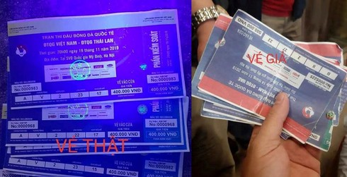 """Vé chợ đen trận Việt Nam – Thái Lan đẩy"""" giá vô tội vạ, cẩn thận vé giả-4"""
