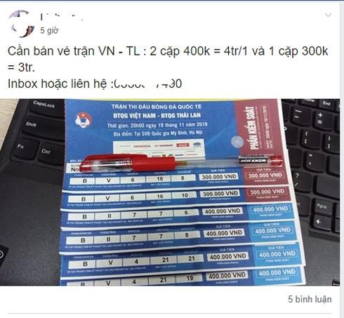 """Vé chợ đen trận Việt Nam – Thái Lan đẩy"""" giá vô tội vạ, cẩn thận vé giả-3"""