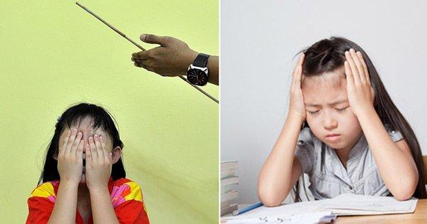 Mẹ đánh vào đầu con gái vì làm sai bài tập, chẳng lâu sau mẹ phải khóc trong hối hận-2