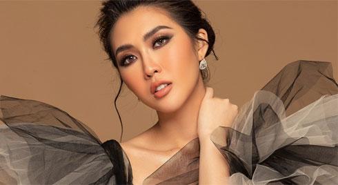 Tường Linh khoe sắc vóc trước thềm chung kết Hoa hậu Hoàn vũ 2019