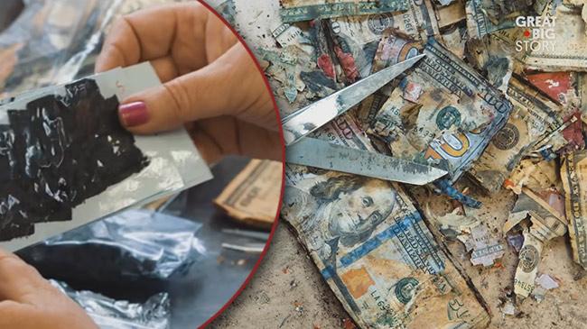 Chuyện lạ có thật: Tiền cháy thành than vẫn đổi được cả triệu đô tiền mới