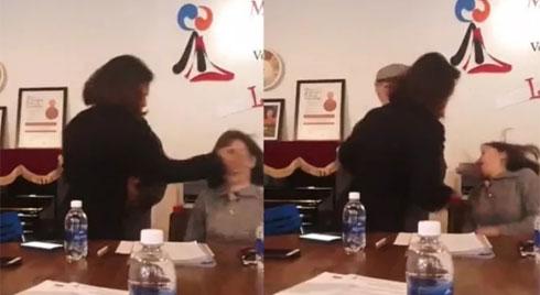 Giáo viên bị phụ huynh tát tai giữa cuộc họp