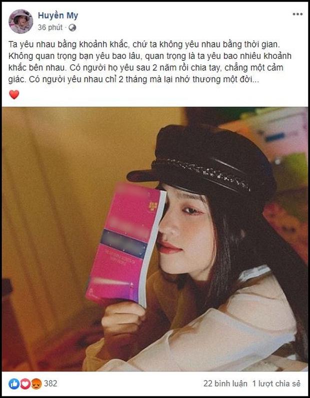 Bạn gái tin đồn Quang Hải đăng status đá xéo Nhật Lê: Yêu nhau 2 năm rồi chia tay chẳng cảm giác, không bằng 2 tháng mà nhớ thương một đời-2