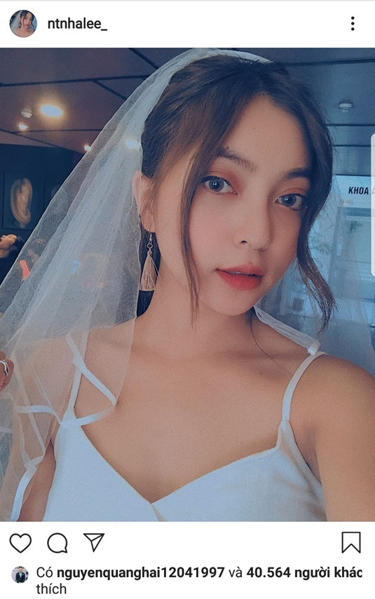 Giữa ồn ào tình cảm, Quang Hải đăng trạng thái buồn, Nhật Lê mặc áo cưới-2