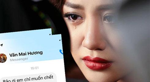 """Xót xa với tin nhắn Văn Mai Hương gửi bạn thân khi bị lộ clip riêng tư: """"Em chỉ muốn chết thôi..."""""""