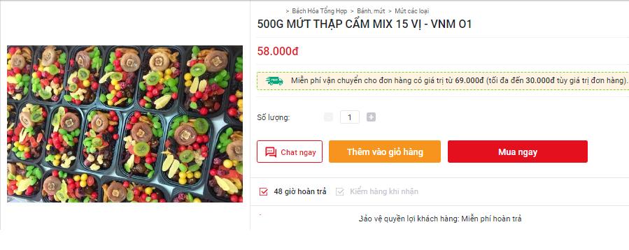 Sát Tết trên thị trường lại xuất hiện loại mứt trái cây mix bán theo hộp với giá rẻ bất ngờ-5