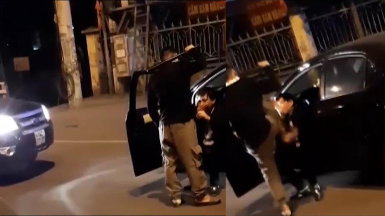 Nam thanh niên dùng gậy bóng chày đánh tài xế ô tô trong đêm