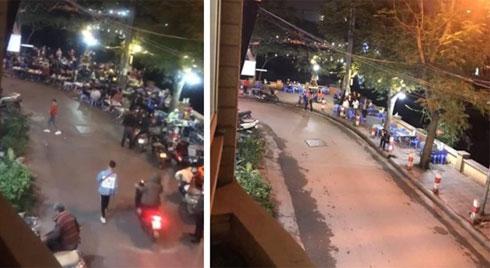 Bức ảnh chụp quán nhậu ở Hà Nội trước và sau nghị định 100 được chia sẻ liên tục