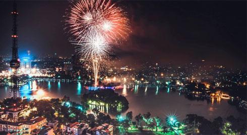 Danh sách 30 điểm bắn pháo hoa giao thừa ở Hà Nội Tết Nguyên đán Canh Tý 2020