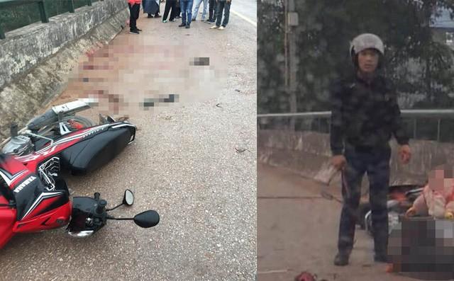 Thái Nguyên: Người đàn ông ép xe 2 mẹ con ngã xuống đường, lao vào chém mẹ tới tấp-1