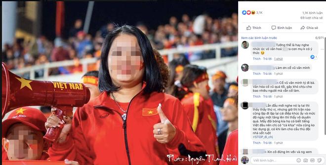 Hô khẩu hiệu: Bay lên trời là em bay ra ngoài, nữ CĐV bị dân mạng tấn công tài khoản Facebook-1