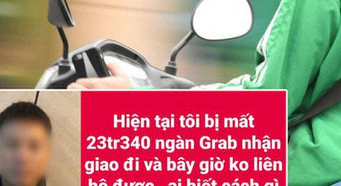 Đặt GrabBike để ship số tiền hơn 23 triệu đồng, nữ khách hàng bị tài xế ôm tiền đi mất