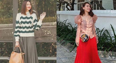 12 ý tưởng diện chân váy dài cực xinh và sang từ sao Việt bạn có thể diện quanh năm được