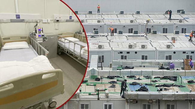 'Dạo một vòng' quanh bệnh viện dã chiến Vũ Hán vừa hoàn tất xây dựng