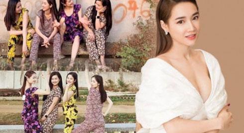 """Từ bỏ hình tượng sang chảnh, Nhã Phương mặc đồ bộ hoa hoè hoá """"gái quê"""" cùng chị em"""