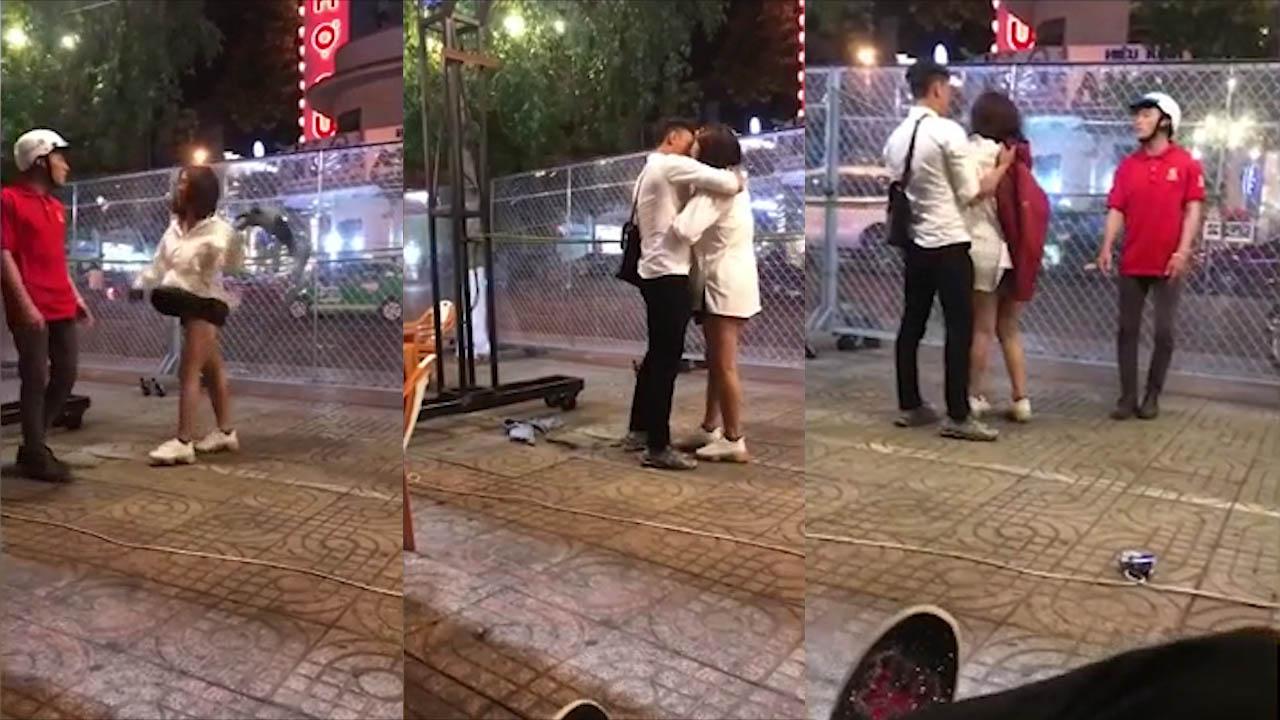 Nam thanh niên phàn nàn mặc đồ mình mua nhưng 'hôn' người khác, cô gái lột đồ trả giữa đường