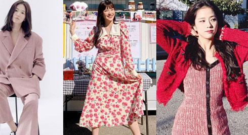 Valentine chưa biết chọn gì hay mặc thử tông màu hồng theo cách các sao Hàn diện xem sao nhé!