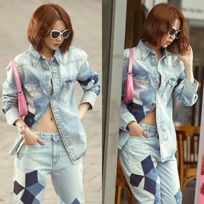Ngọc Trinh dáng chuẩn nên mặc quần jeans đẹp mê là đương nhiên, mỗi tội lại có đôi lần mix đồ hơi lỗi-8