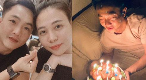 Lãng mạn như Đàm Thu Trang: Nửa đêm mang bánh và nến đến tận giường để mừng sinh nhật Cường Đô La