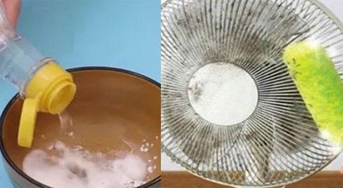 Chùi sạch quạt điện bám bụi chỉ với 1 chiêu, 5 phút sau sạch bong như mới