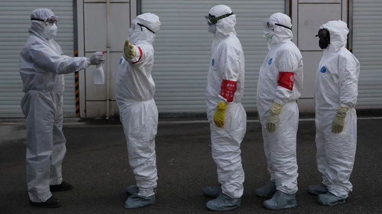 Dịch Covid-19 ngày 25/2: Hàn Quốc có gần 900 ca nhiễm bệnh