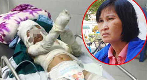 Vụ bé trai 6 tuổi bị dì ruột thiêu sống: Bà ngoại nhận tiền từ thiện rồi bất ngờ bỏ về quê, người mẹ nói gì?