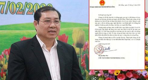 """Chủ tịch Đà Nẵng viết tâm thư xin lỗi nhóm du khách đến từ """"tâm dịch"""" Hàn Quốc"""